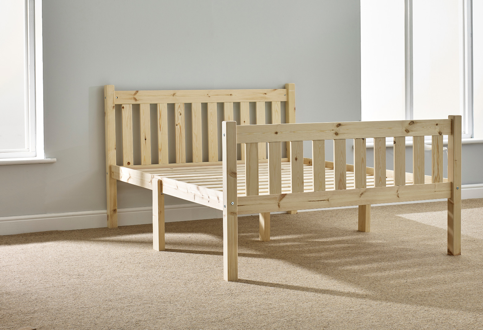 Athens 5ft Kingsize Shaker Solid Pine Bed Frame