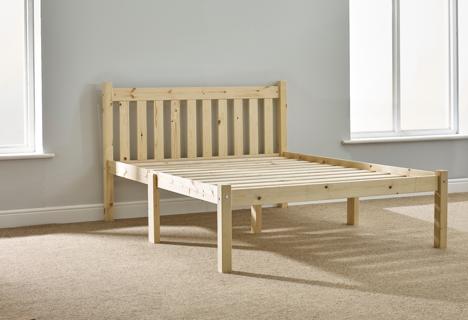 Amelia 4ft 6 Double Shaker Solid Pine Bed Frame