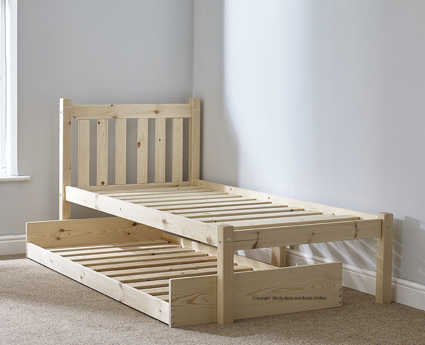 Amelia 3ft Single Solid Pine GUEST BED Frame
