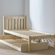 Amelia 2ft 6 Small Single Solid Pine GUEST BED Frame
