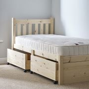 Amelia 3ft Single STORAGE Pine Bed Frame