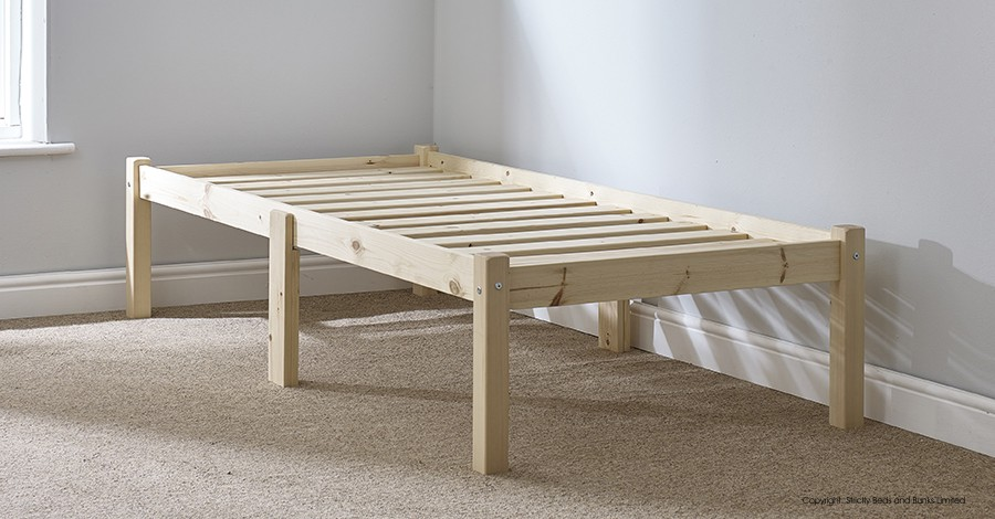 Avon 2ft 6 Small Single Studio Solid Pine Bed Frame