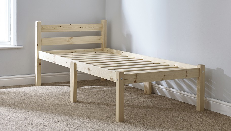 Cleveland 2ft 6 Small Single SHORT LENGTH Pine bed frame