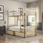 Cypress 2ft 6 Single SHORT LENGTH STORAGE  Heavy Duty Solid Pine Bunk Bed