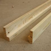 Replacement Pine 190cm Bed Siderails, set of two