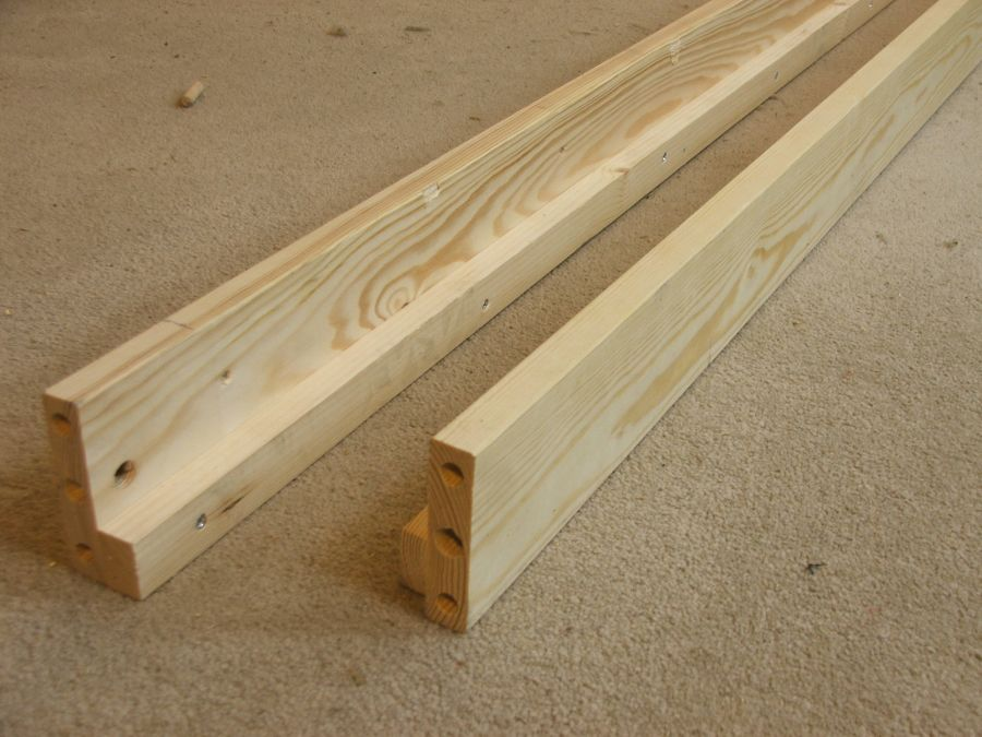 replacement solid bed side rails, set of two siderails ...