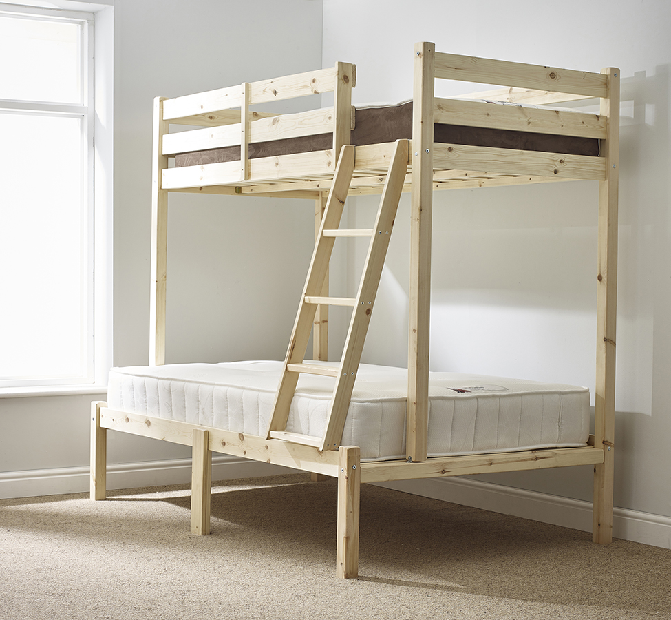 Duchess 4ft Small Double HEAVY DUTY Solid Pine Triple Sleeper Bunk Bed