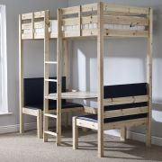 Strictly Beds Duo 3ft Single Solid PIne Bunk Bed with table