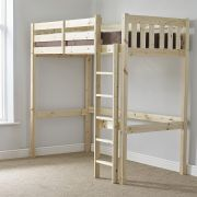 Eldon 3ft Single HEAVY DUTY Solid Pine HIGH SLEEPER Bunk Bed