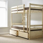 Everest 3ft Single STORAGE  Heavy Duty Solid Pine Bunk Bed