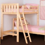 Goodwood 3ft Single HEAVY DUTY Solid Pine L Shaped  Bunk Bed