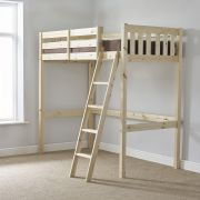 Goodwood 2ft 6 Small Single HEAVY DUTY Solid Pine HIGH SLEEPER Bunk Bed