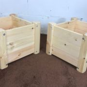 SET OF TWO Goliath Heavy Duty Small Wooden Planter Boxes