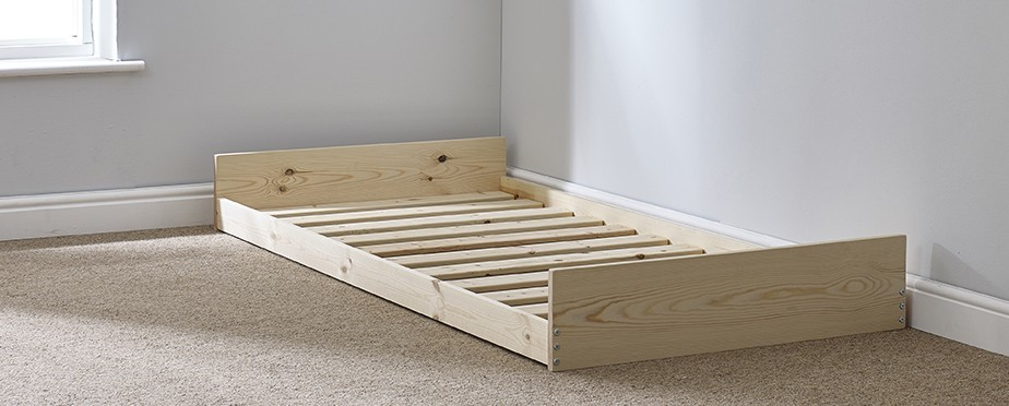 Leo pull-out solid pine trundle bed - FOUR SIZES