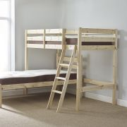 Mandoline 3ft Single HEAVY DUTY Solid Pine L SHAPED Bunk Bed