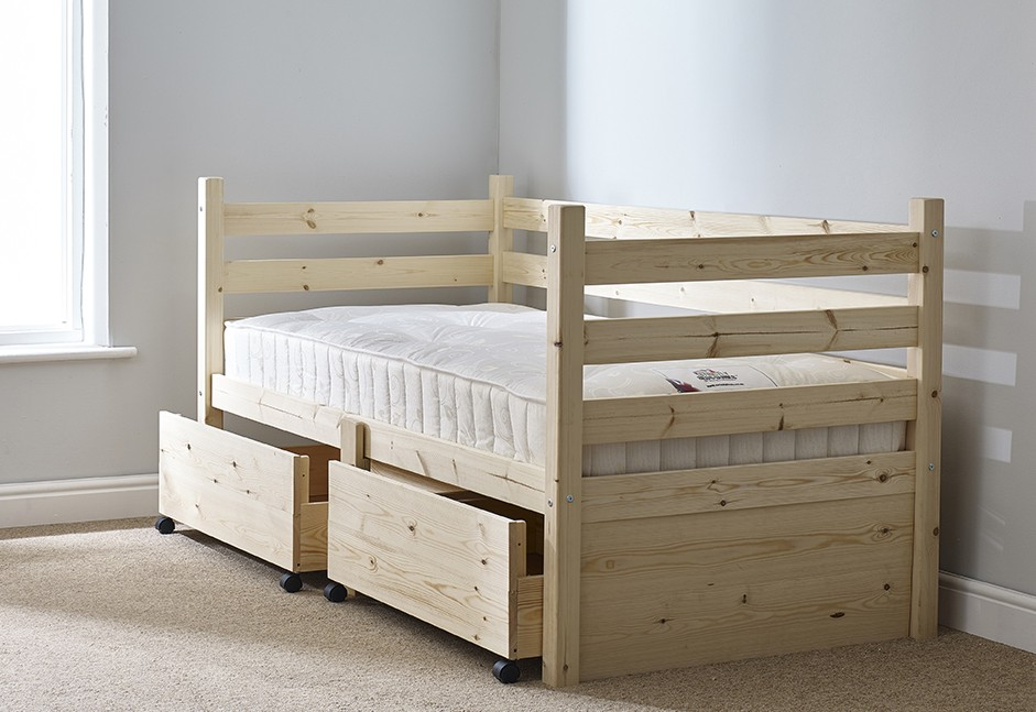 Ripvan 3ft Single Pine Heavy Duty Storage Day Bed