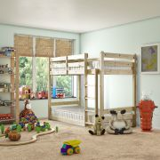 Pluto 3ft Single SHORT LENGTH Solid Pine Bunk Bed