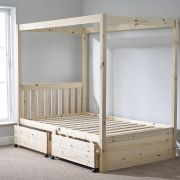 Quattro 4ft 6 Double FOUR POSTER Bed with FOUR Storage Drawers