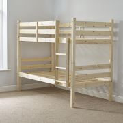 Ranch Heavy Duty 2ft 6 Small Single SHORT LENGTH Solid Pine Bunk Bed
