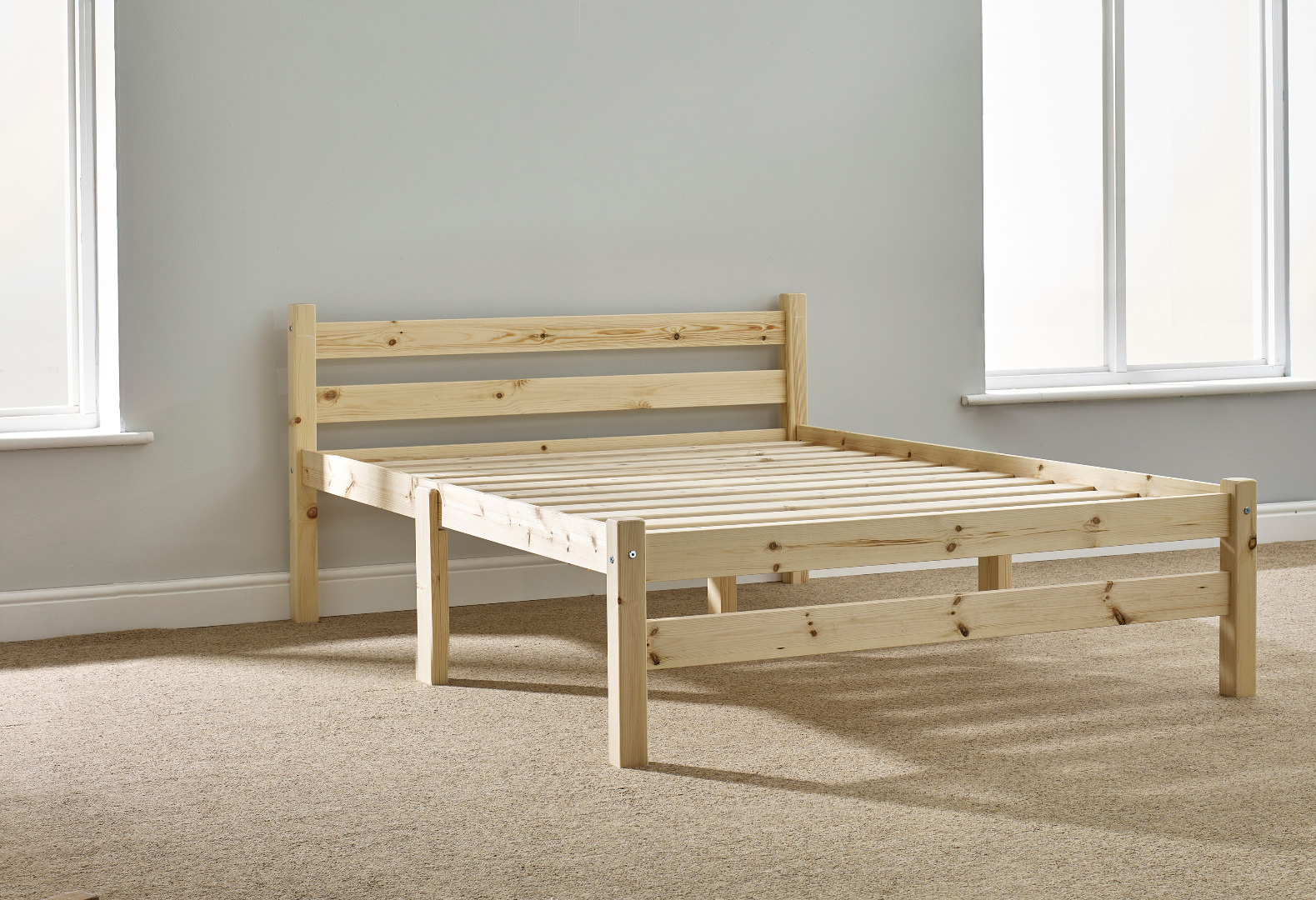 Samson 4ft Small Double Solid Pine Bed Frame