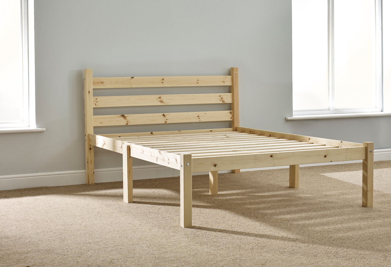 Somerset 4ft Small Double Solid Pine HEAVY DUTY Bed Frame