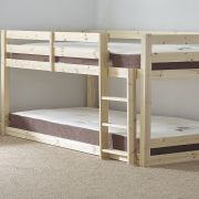 Stockton 4ft 6 Double Low Pine Bunk Bed