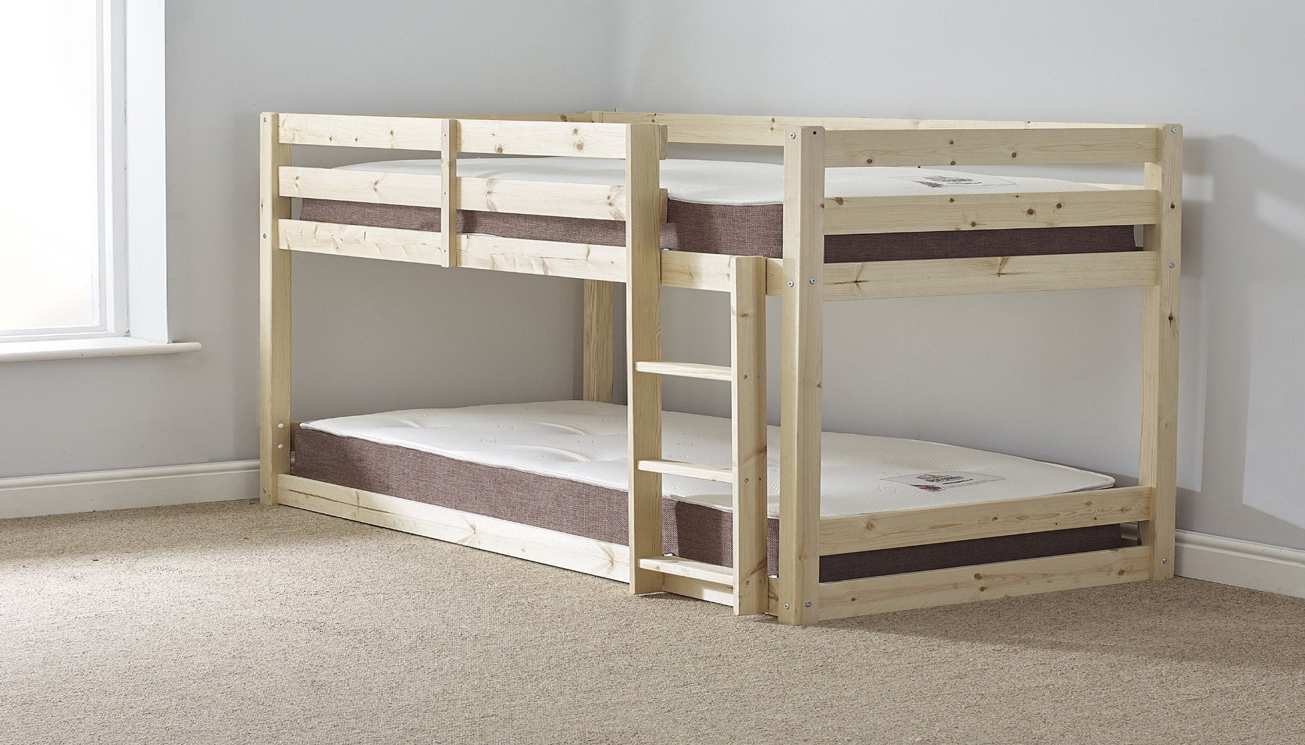 Picture of: Stockton 4ft 6 Double Low Pine Bunk Bed