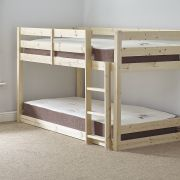 Stockton 2ft 6 Small Single Low Pine Bunk Bed