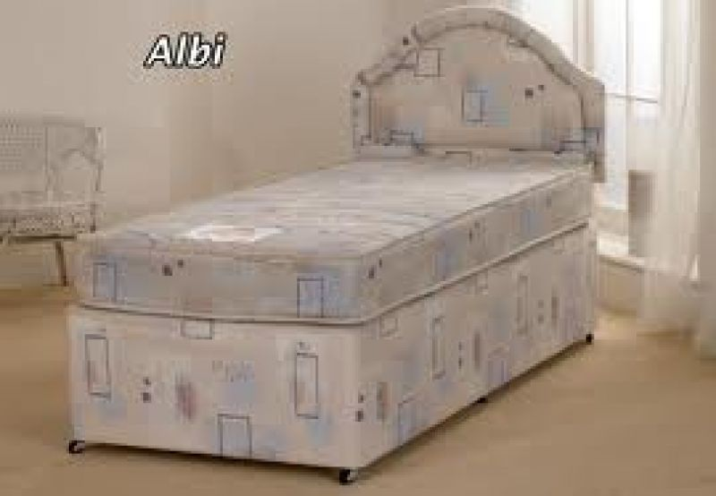 Albi 2ft 6 small single divan set