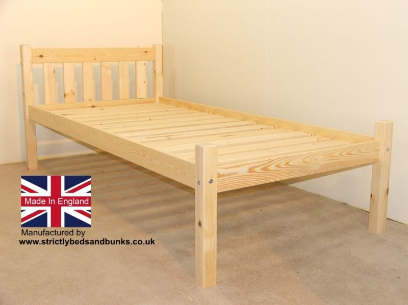 Amy 2ft 6 small single pine bed frame from Strictly Beds and Bunks