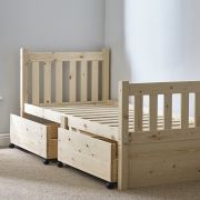 Athens 2ft 6 Small Single Pine STORAGE Bed Frame