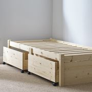 Avon 2ft 6 Small Single STORAGE Studio Solid Bed Frame