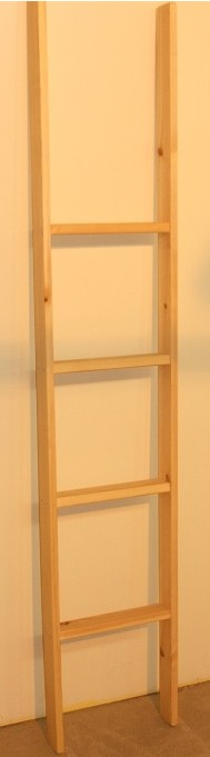 Pine Bunk Bed Ladder - Memphis Upright