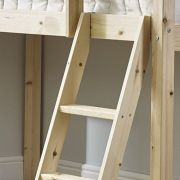 Cabin Bed Slanted Pine Ladder