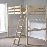 Celeste 4ft Small Double HEAVY DUTY Solid Pine HIGH SLEEPER Bunk Bed