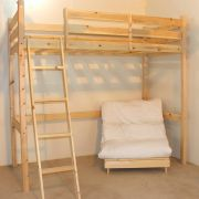 Celeste 3ft Single HEAVY DUTY Solid Pine FUTON Bunk Bed