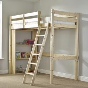 Celeste 2ft 6 Small Single HEAVY DUTY SHORT LENGTH HIGH SLEEPER Bunk Bed (NO BOOKCASE)