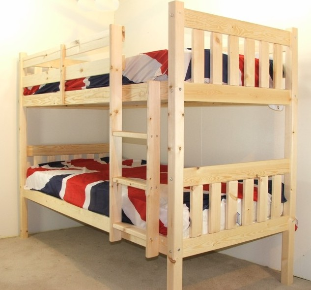 cypress 3ft single solid pine heavy duty low bunk bed. Black Bedroom Furniture Sets. Home Design Ideas