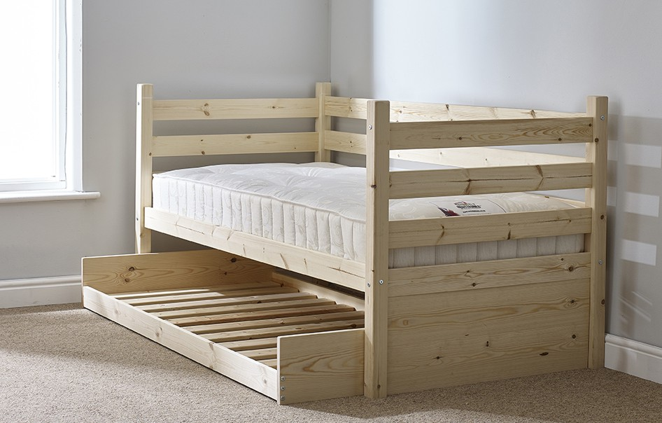 Ripvan 3ft Single Pine HEAVY DUTY Day Bed with Underbed