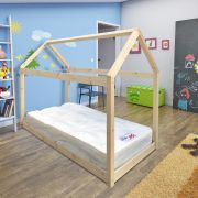 Enby 3ft Single Canopy Treehouse Pine Bed Frame