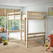 Everest 4ft Small Double SHORT LENGTH Solid Pine HIGH Bunk Bed