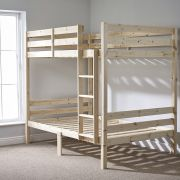 Plato 4ft Small Double HEAVY DUTY Solid Pine Bunk Bed