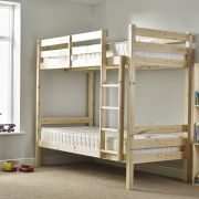 Everest 2ft 6 Small Single SHORT LENGTH HEAVY DUTY Solid Pine HIGH Bunk Bed