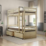 Everest 2ft 6 Small Single STORAGE Short Length Solid Pine Bunk Bed
