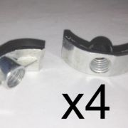 Pack of FOUR M6 Halfmoon / Cresecent bed bolts