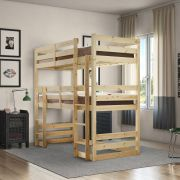 Fusion 2ft 6 Small Single Short Length Raised Solid Pine Bunk Bed