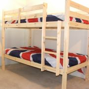 Goliath 2ft 6 Small Single Solid Pine HEAVY DUTY LOW Bunk Bed