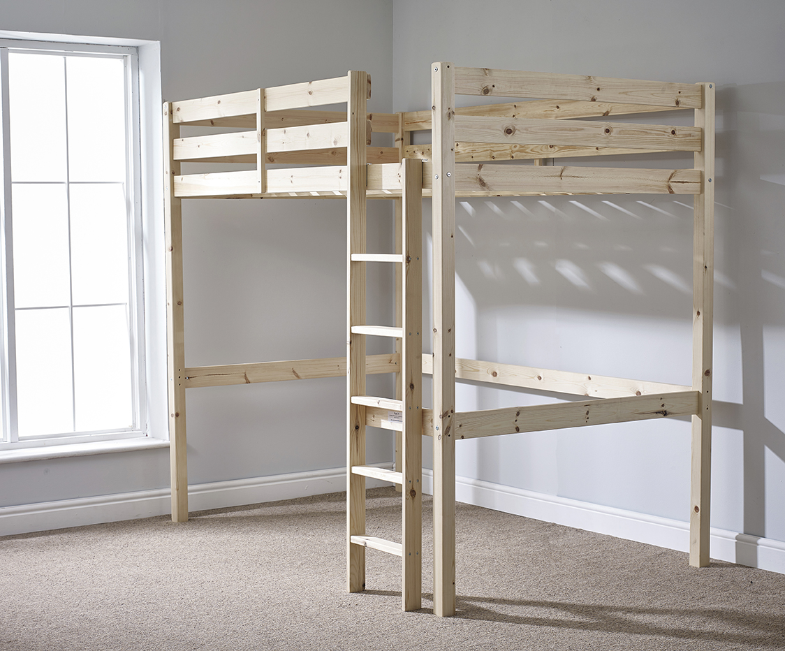 Icarus 4ft 6 Double Heavy Duty Solid Pine High Sleeper