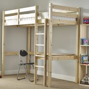 Icarus 3ft Single HIGH Study Bunkbed with Chair and Desk