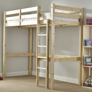 Icarus 3ft Single SHORT LENGTH Solid Pine HIGH SLEEPER Bunk Bed